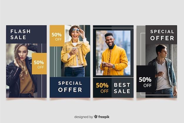 Resumo de venda de moda de histórias do instagram