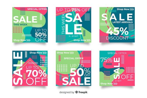 Resumo de venda instagram post coleção