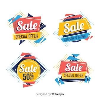 Resumo de vendas coleção de modelo de banner