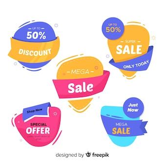 Resumo de vendas coleção de modelo de banners