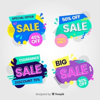 Resumo de vendas coleção de modelos de banner