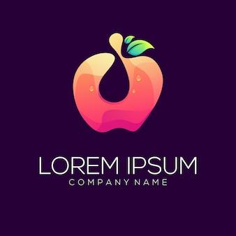 Resumo de vetor de design de logotipo de maçã