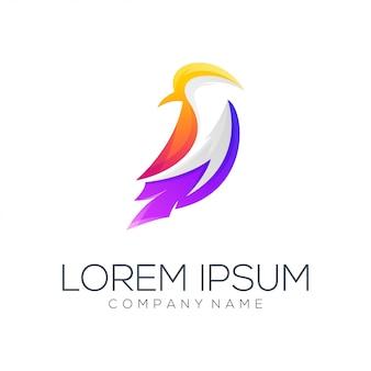 Resumo de vetor de design de logotipo de pássaro