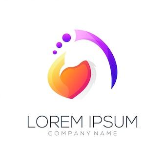 Resumo de vetor de design de logotipo de pavão