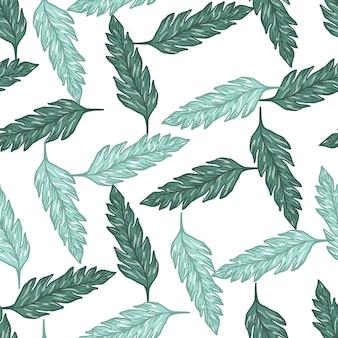 Resumo deixa padrão sem emenda. fundo floral vintage. ilustração contemporânea do vetor. para design de tecido, impressão têxtil, embalagem, capa