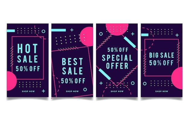 Resumo design instagram venda histórias