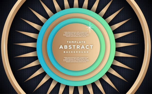 Resumo dinâmica texturizada com estilo 3d de fundo dourado geométrico luxuoso
