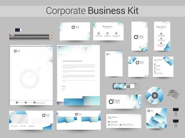 Resumo do kit de identidade empresarial empresarial.