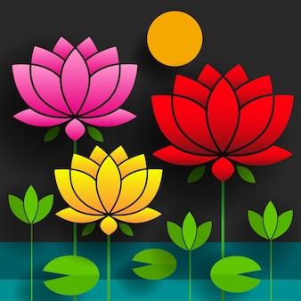 Resumo do logotipo da flor de lótus salão de beleza spa de beleza marca de cosméticos estilo linear. vetor de design de logotipo de folhas em loop modelo de moda de luxo.