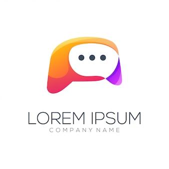 Resumo do logotipo da mensagem
