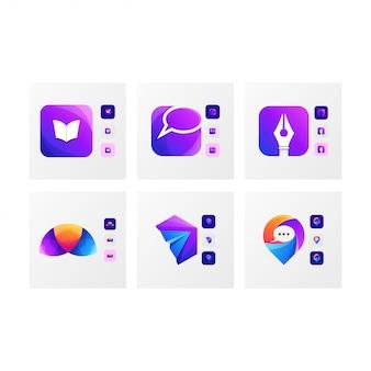 Resumo do logotipo do ícone