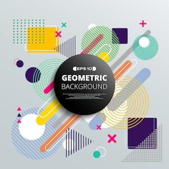 Resumo do padrão geométrico colorido