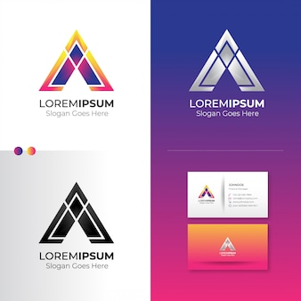 Resumo do triângulo de logotipo
