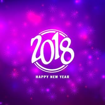 Resumo elegante ano novo brilhante 2018 background