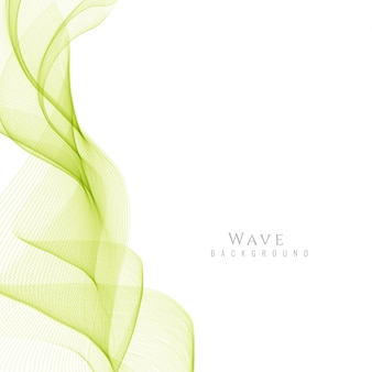 Resumo elegante fundo da onda verde