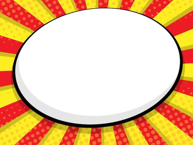 Resumo em branco discurso bolha quadrinhos, fundo de vector pop art