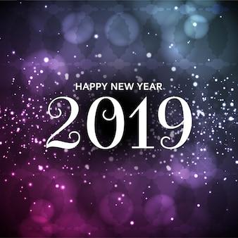Resumo feliz ano novo 2019 elegante glitters fundo