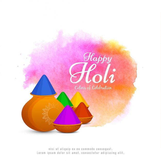 Resumo feliz holi festival fundo de celebração