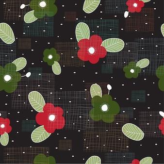 Resumo floral na moda textura sem costura de fundo