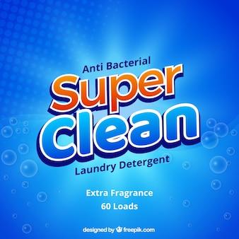 Resumo fundo azul de detergente