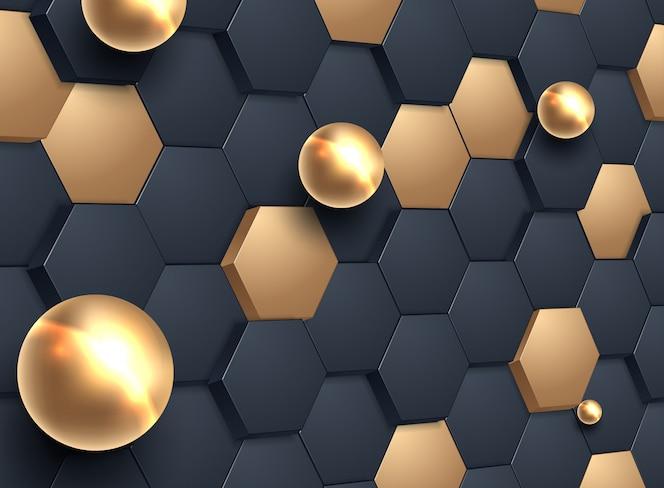 Resumo fundo hexagonal