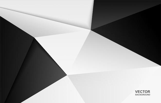 Resumo. fundo moderno. fundo de polígono preto e branco.