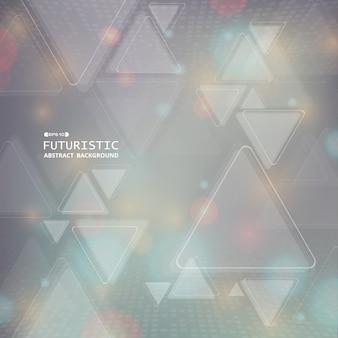 Resumo futurista colorido triângulo geométrico padrão