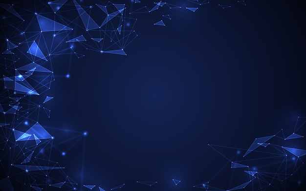 Resumo futurista molécula digital tecnologia conceito azul