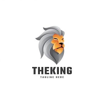 Resumo gradiente cor leão leo mascote logotipo