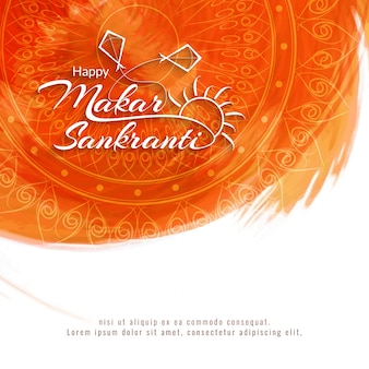 Resumo happy makar sankranti background religioso