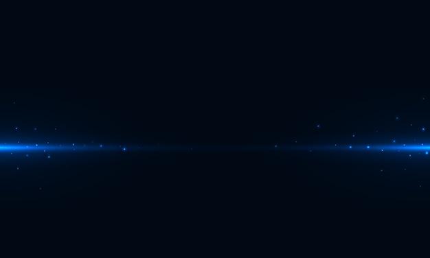Resumo horizontal azul leigos e brilho no uso de fundo escuro para o pano de fundo da apresentação, cartaz ou página de destino