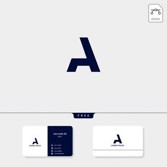 Resumo inicial a, modelo de logotipo e design de cartão de visita incluem