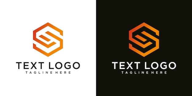 Resumo inicial da letra s logotipo design templatetecnologia ícones para negócios de gradiente de luxo