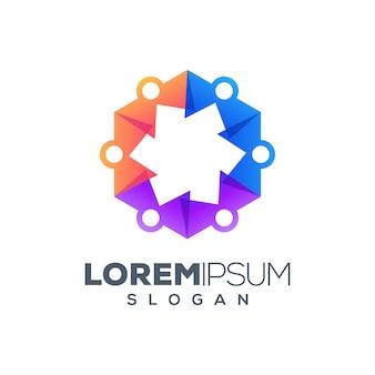 Resumo jogar design de logotipo colorido