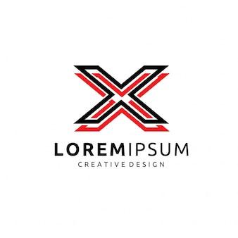 Resumo letra x logotipo