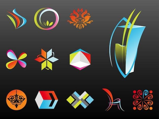 Resumo logotipo da empresa templates vetor