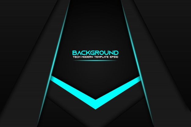Resumo metálico azul preto layout layout moderno tech design modelo plano de fundo