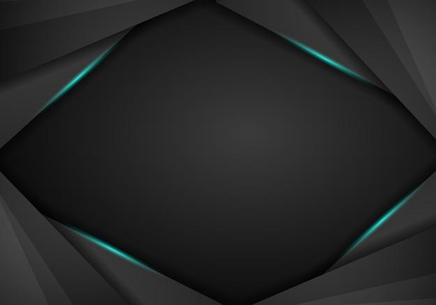 Resumo metálico azul preto quadro layout moderno tech design modelo fundo