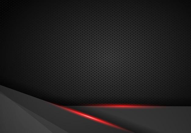Resumo metálico vermelho preto quadro layout moderno tecnologia modelo de design de fundo