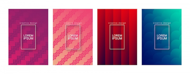 Resumo minimal geométrica gradiente cover background template set
