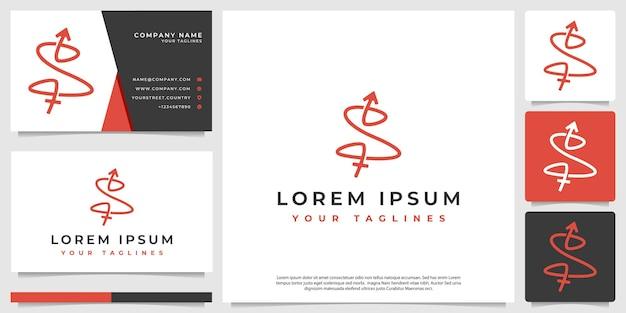 Resumo minimalista da inicial do logotipo