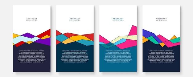 Resumo moderno cobre conjunto de mídia social de história, design de capas mínimo. fundo geométrico colorido, ilustração vetorial.