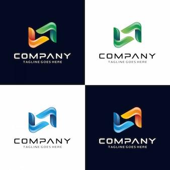 Resumo moderno logotipo da letra n moderna