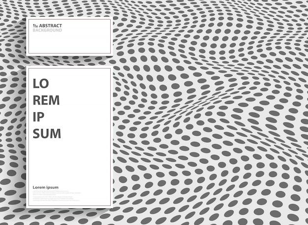 Resumo moderno ponto de design de capa de malha