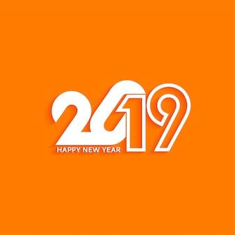 Resumo novo ano 2019 elegante texto design plano de fundo