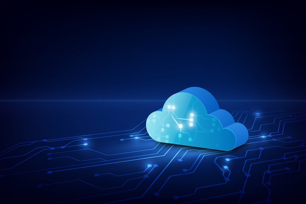 Resumo nuvem tecnologia sistema sci fi fundo