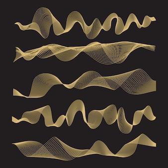 Resumo ondas em fundo preto