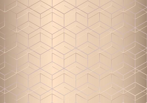 Resumo padrão geométrico. fundo de textura dourada. estilo de luxo. ilustração.