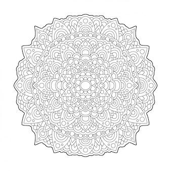 Resumo padrão redondo no fundo branco