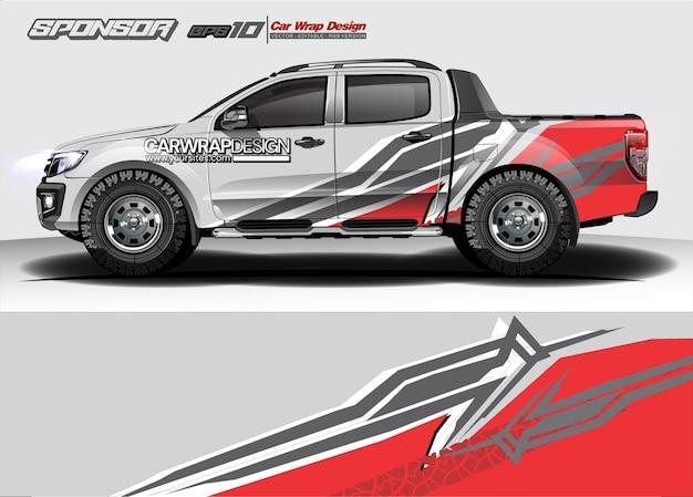 Resumo para caminhão, design de embalagem de carro de corrida e pintura de veículo